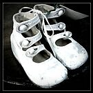 Vintage Baby Shoes Triptych by Colleen Drew