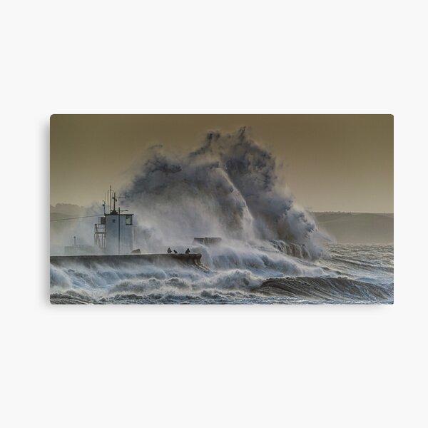 Porthcawl during Storm Ciara Canvas Print