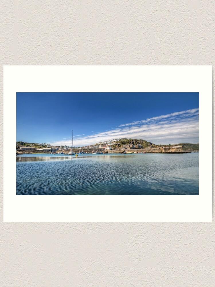 Alternate view of Mevagissey Harbour - 05/07/19 Art Print Art Print