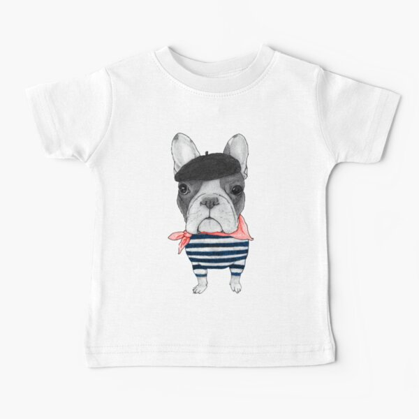 French Bulldog in front of Arc de Triomphe. Baby T-Shirt