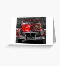 Old Red Car Greeting Card
