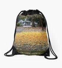 A Carpet of Golden Leaves Drawstring Bag