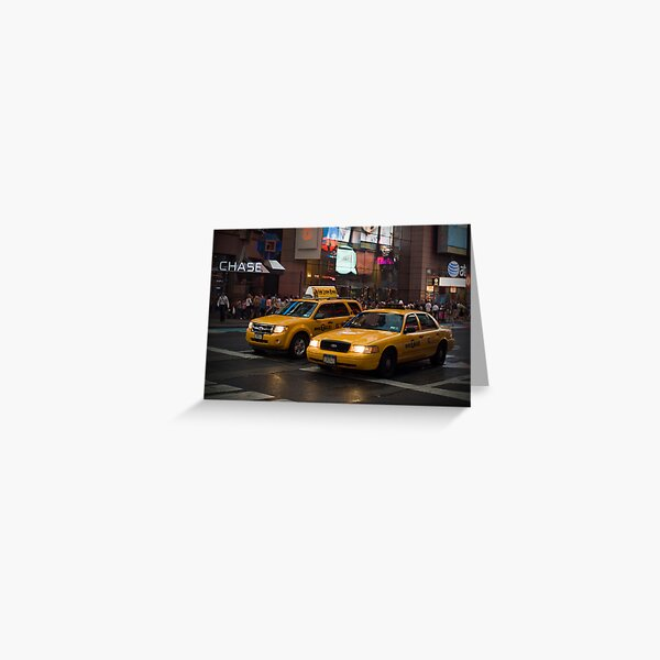 New York Taxis Greeting Card
