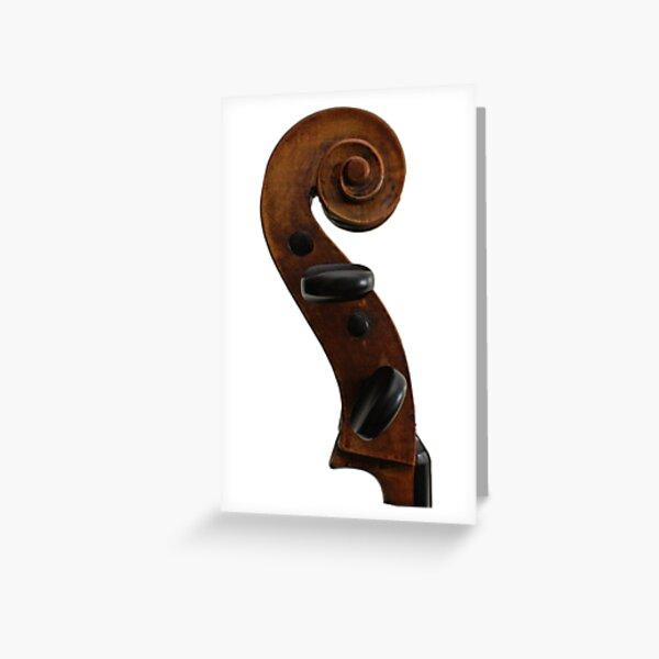Violin Scroll Greeting Card