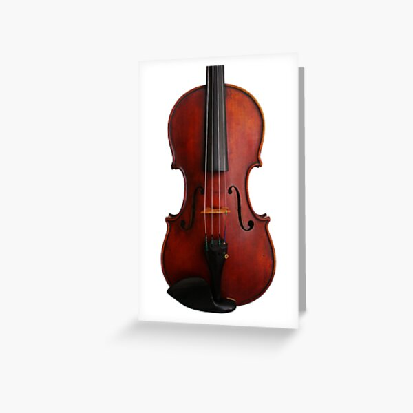 Red Violin Greeting Card