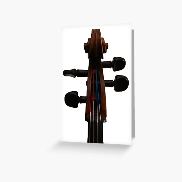 Cello Scroll Greeting Card