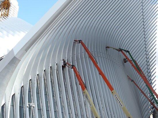Working on the World Trade Center Transit Hub, Santiago Calatrava, Architect, Lower Manhattan, New York City by lenspiro