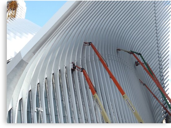Working on the World Trade Center Transit Hub, Santiago Calatrava, Architect, Lower Manhattan, New York City by lenspiro