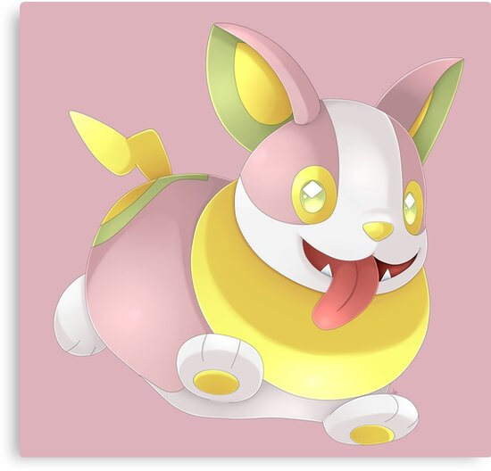 Shiny Yamper Canvas Print By Shinyhunterf Redbubble It cannot store the electricity it generates, so sparks of electricity can often be seen when it is running. shiny yamper canvas print by shinyhunterf redbubble