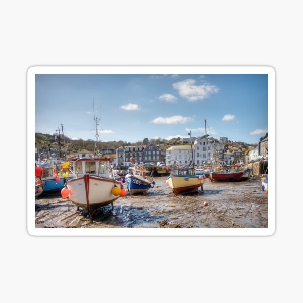 Low Tide, Mevagissey - 27/03/19 Sticker