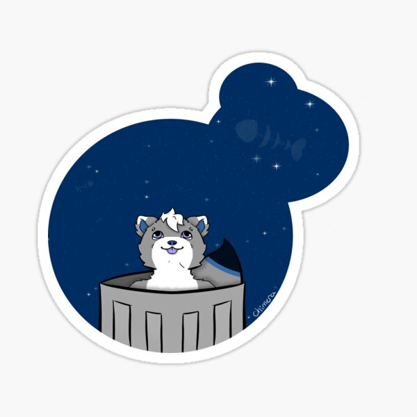 Fish looking at the stars Sticker