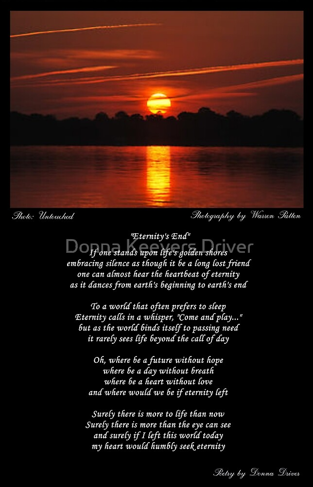 ~ Eternity's End ~ A collaboration with Warren Patten (aka Wazza) by Donna Keevers Driver