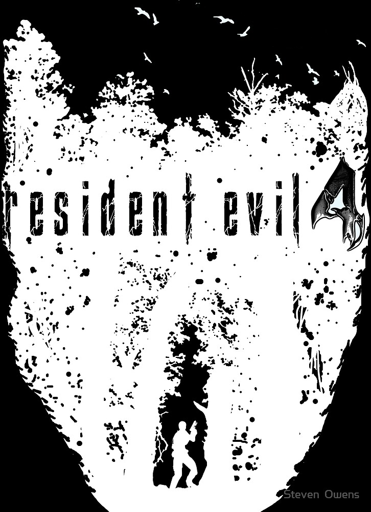 RE4 Transparent European Box Art White by Steven  Owens