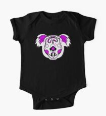 Pink - Day of the Dead Koala One Piece - Short Sleeve