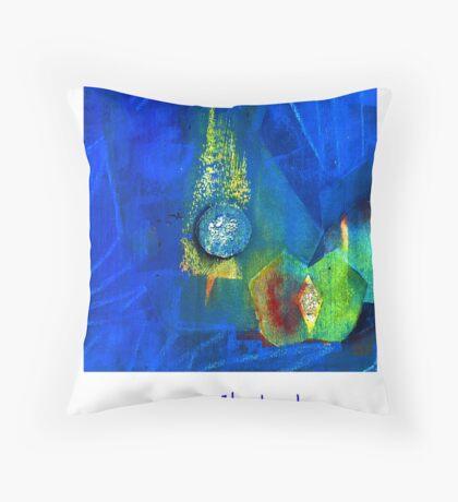blue Christmas Throw Pillow