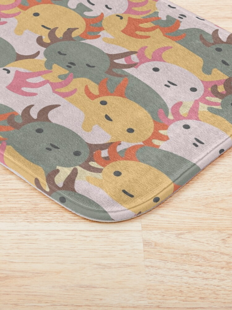 Alternate view of AXOLOTL WAVE - We are the CUTEST CREATURE in the Water World Bath Mat