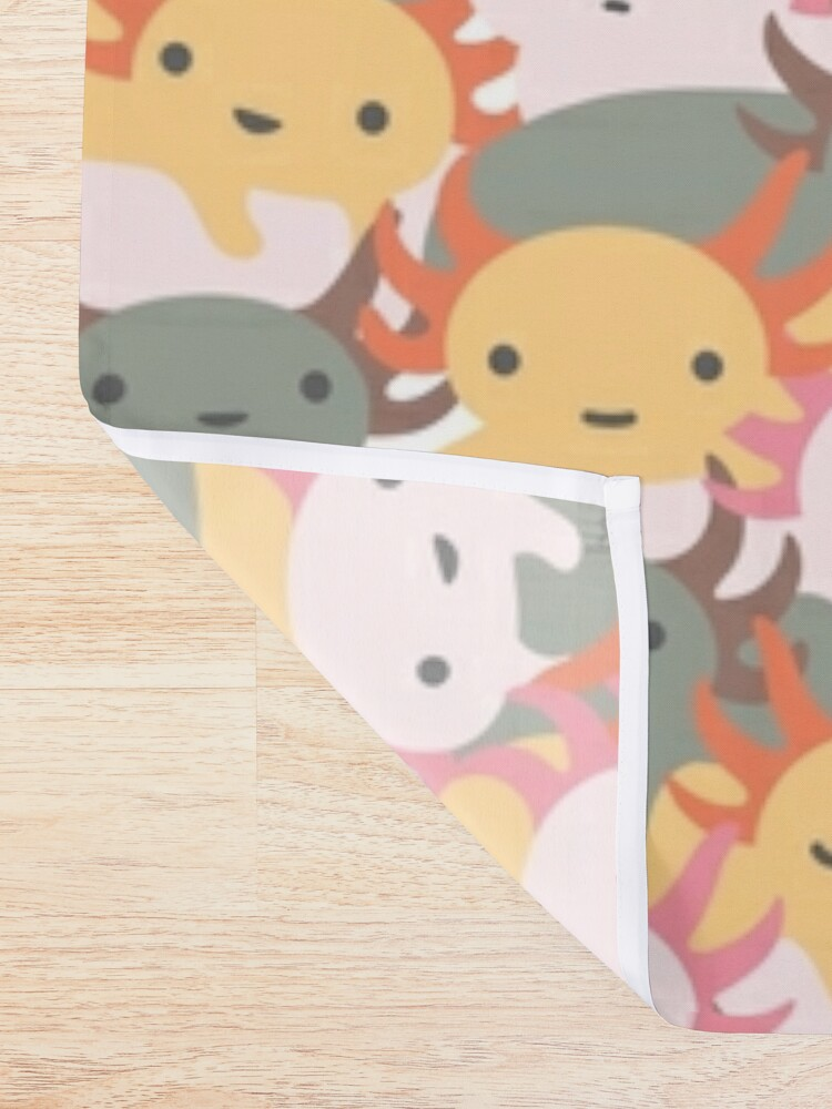 Alternate view of AXOLOTL WAVE - We are the CUTEST CREATURE in the Water World Shower Curtain