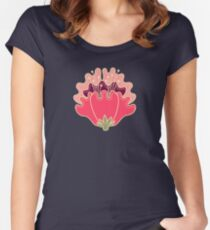 flat flowers Women's Fitted Scoop T-Shirt