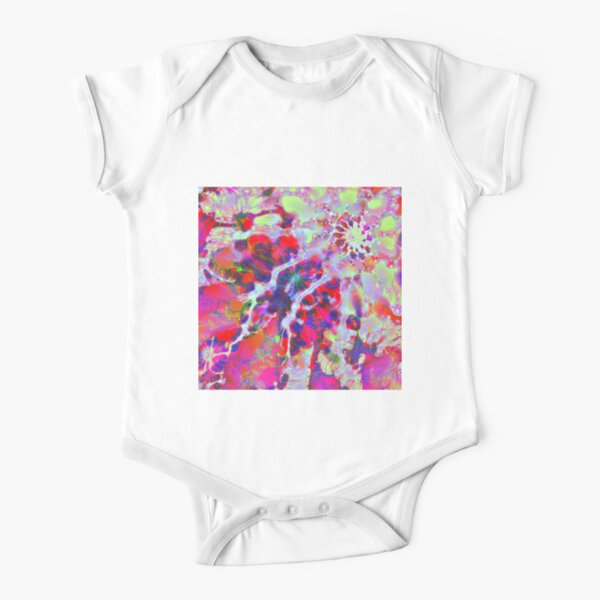 Fractalize Crimson Short Sleeve Baby One-Piece