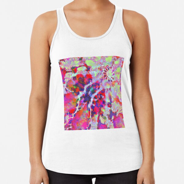 Fractalize Crimson Racerback Tank Top
