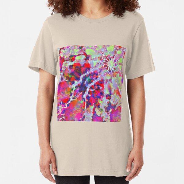 Fractalize Crimson Slim Fit T-Shirt