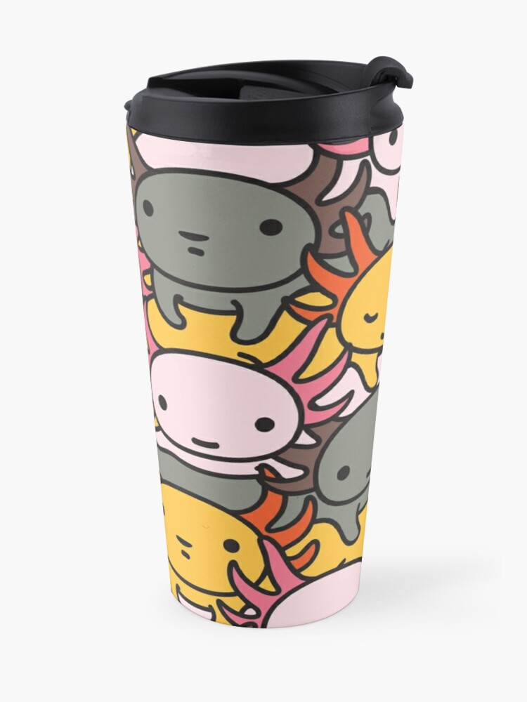 Alternate view of AXOLOTL WAVE Style 2 - We are the CUTEST CREATURE in the Water World Travel Mug