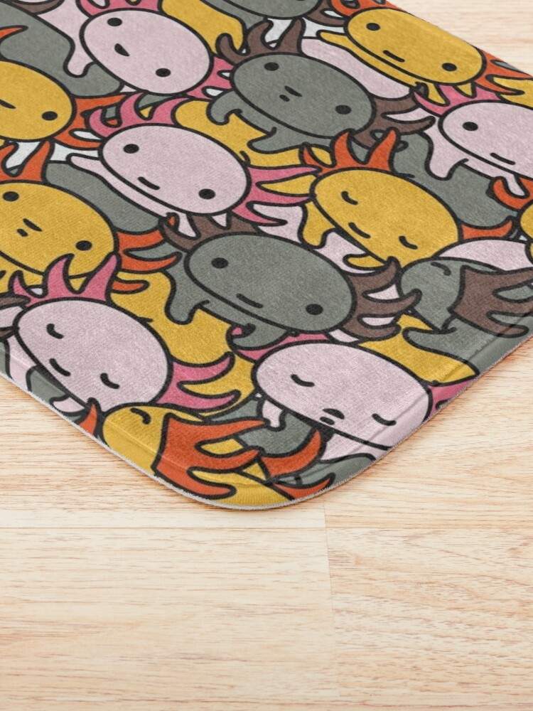 Alternate view of AXOLOTL WAVE Style 2 - We are the CUTEST CREATURE in the Water World Bath Mat