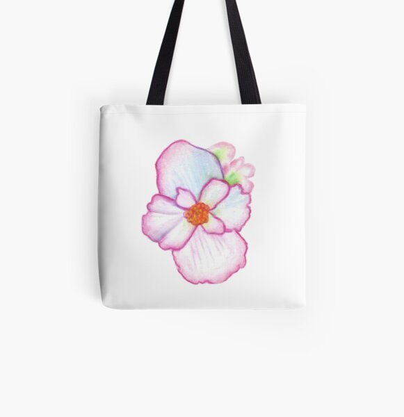 Pink Pansy All Over Print Tote Bag