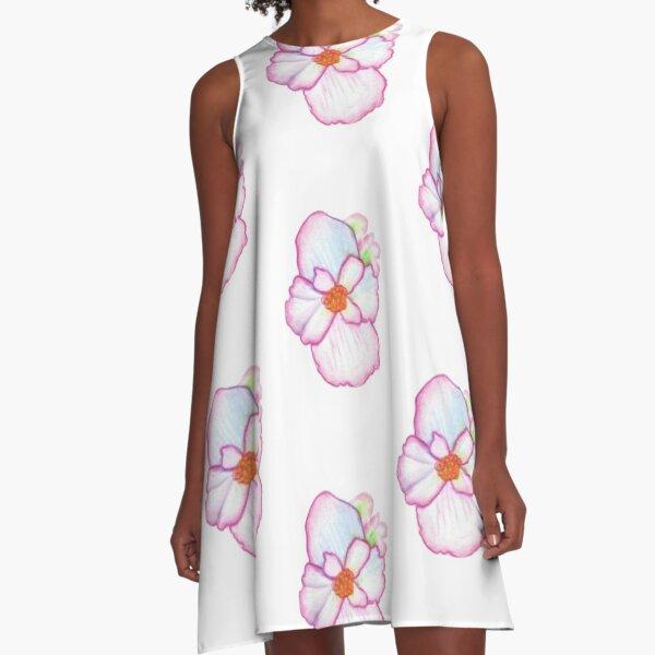 Pink Pansy A-Line Dress