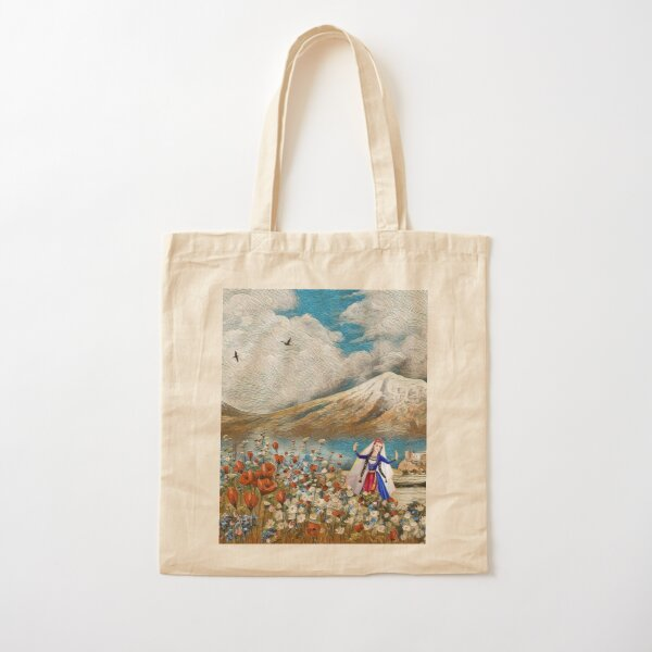 The Flower Girl From Ararat Ծաղիկ աղջիկը Արարատից Cotton Tote Bag