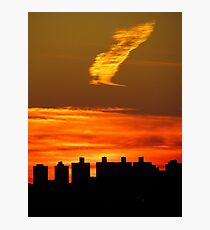 Autumn silhouette, New York City  Photographic Print