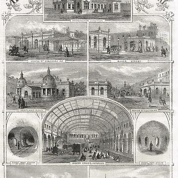 Metropolitan Underground Stations 1862 by artfromthepast