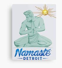 Namaste Detroit Full Color Metal Print