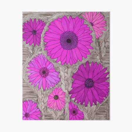 Gerbera Daisy- Magenta Art Board Print