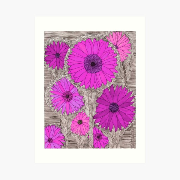 Gerbera Daisy- Magenta Art Print