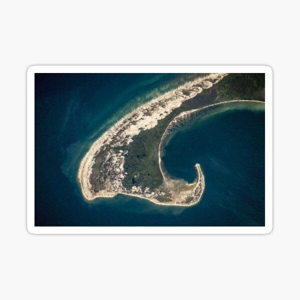 Cape Cod Aerial Landscape Painting Sticker