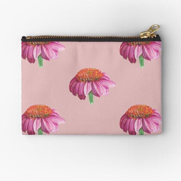 Purple cone flower Zipper Pouch
