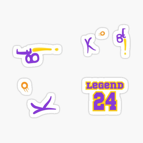 Rip Kobe! In memory of the Lakers Legend Black Mamba Sticker