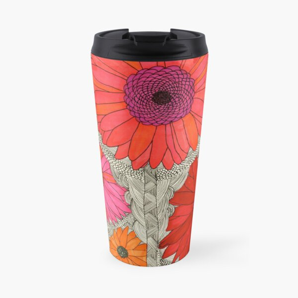 Gerbera Daisy-Red Travel Mug