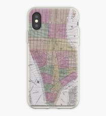 Vinilo o funda para iPhone Vintage Map of New York City (1863)