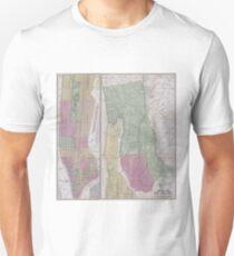 Camiseta unisex Vintage Map of New York City (1863)