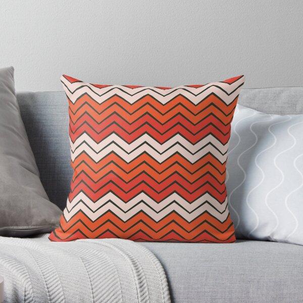 Takoma - Flame/Grenadine Throw Pillow