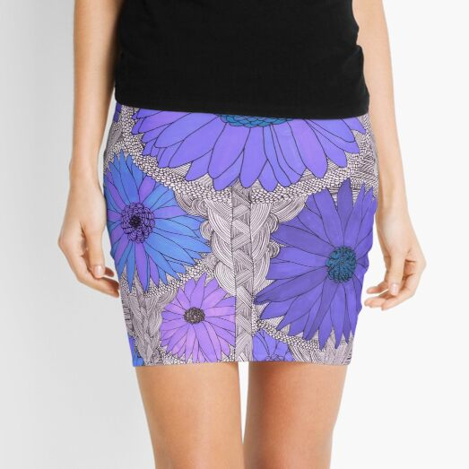 Gerbera Daisy- Purple Mini Skirt