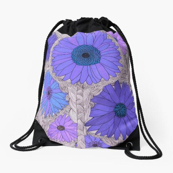 Gerbera Daisy- Purple Drawstring Bag