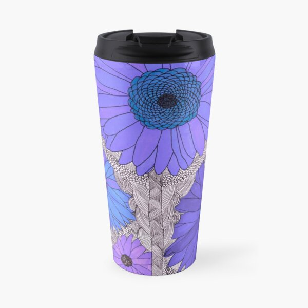 Gerbera Daisy- Purple Travel Mug