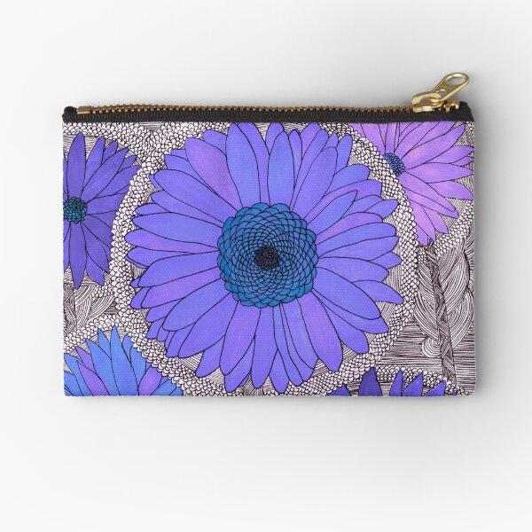 Gerbera Daisy- Purple Zipper Pouch