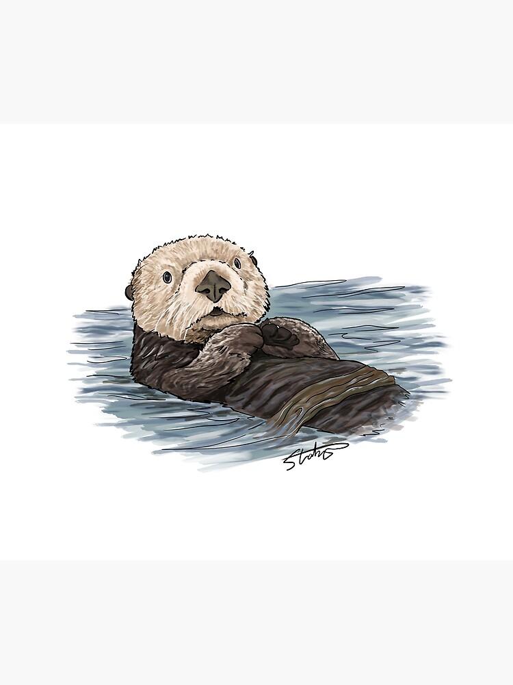 Sea Otter Sketch by slaterza
