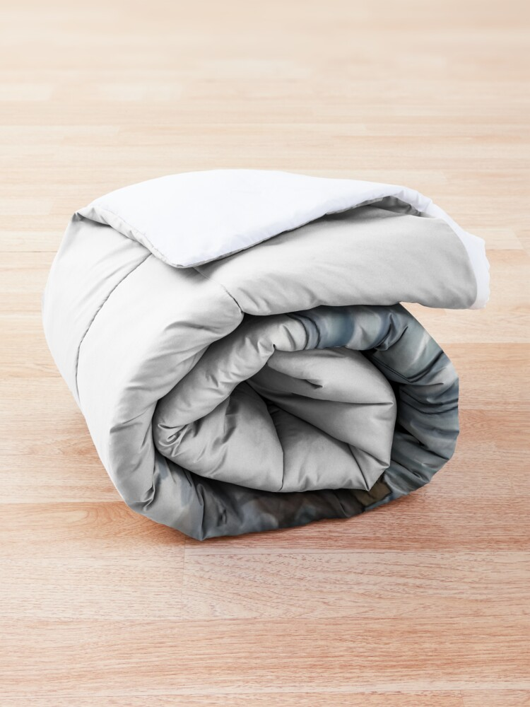 Alternate view of Sea Otter Sketch Comforter