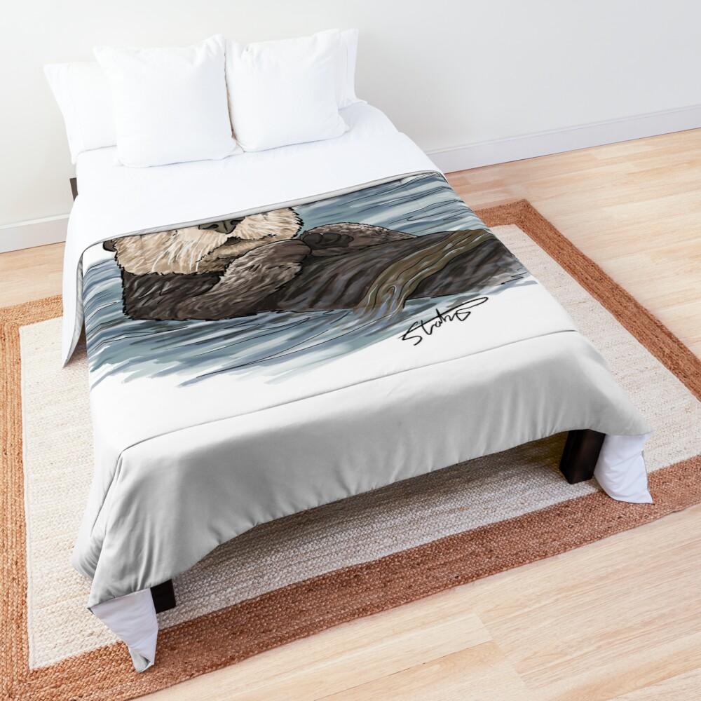 Sea Otter Sketch Comforter