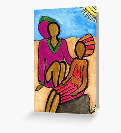 Sun Sistahs Greeting Card